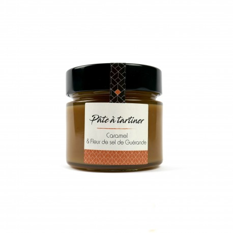 Caramel à tartiner vanille - Fleur de sel de Guérande