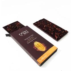 Tablette aux oranges confites - Chocolat noir 70%